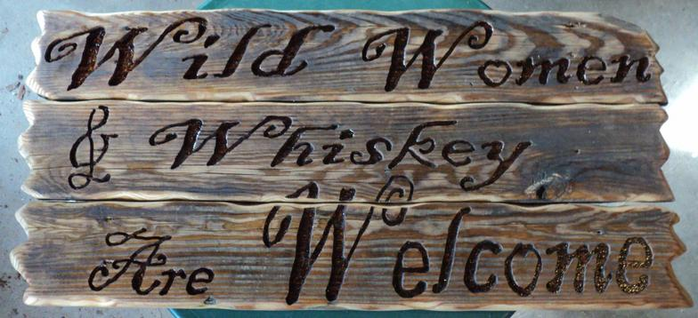 Unique Hand-crafted wood burned Kindness Matters sign.
